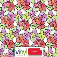 Pansies Red Flower Sticky Window Privacy Film (338-0017) 45cm x 2m