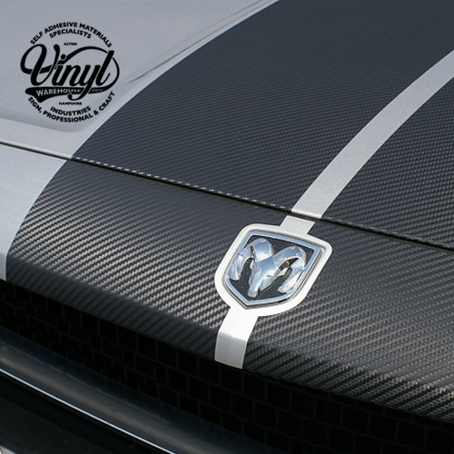150mm VIPER RACING STRIPES - 3d Carbon Fibre