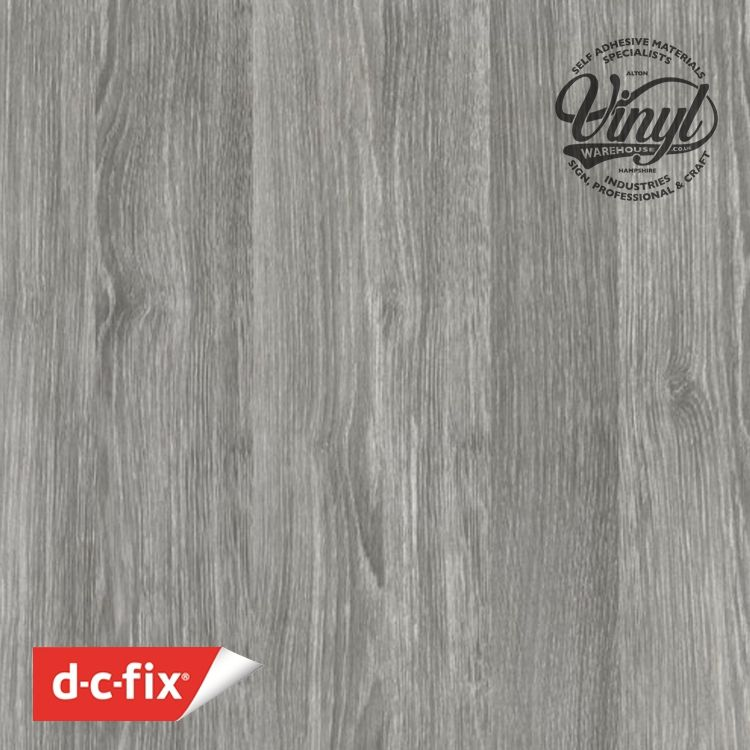 2m x 67cm Sheffield Oak Grey Wood Sticky Backed Vinyl (346-8135)