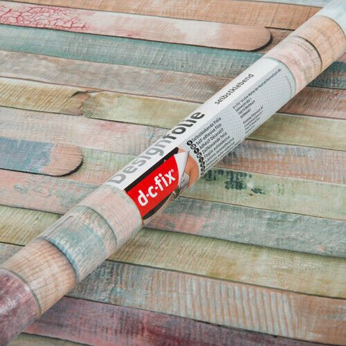 2m x 67cm Rio Coloured Planks Wood Sticky Backed Vinyl (346-8094)