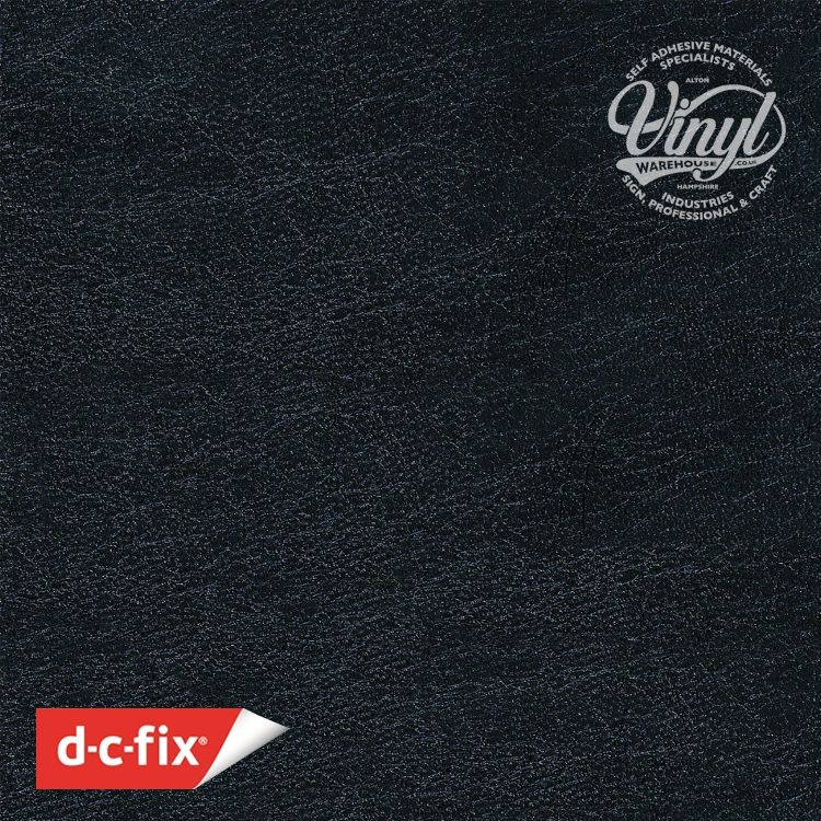 45cm Black  Leather Embossed Sticky Back Vinyl (200-1923) Lengths from 1m to 15m