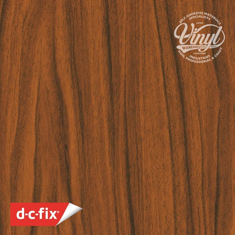 45cm D-C-Fix Gold Walnut Wood Sticky Back Vinyl (200-1317) Lengths from 1m to 15m