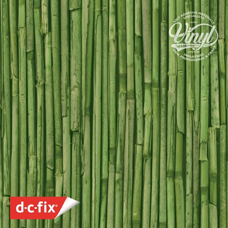 45cm Green Bamboo Print Sticky Vinyl Fablon (280-3177) Cut to size from 1 to 15 metres