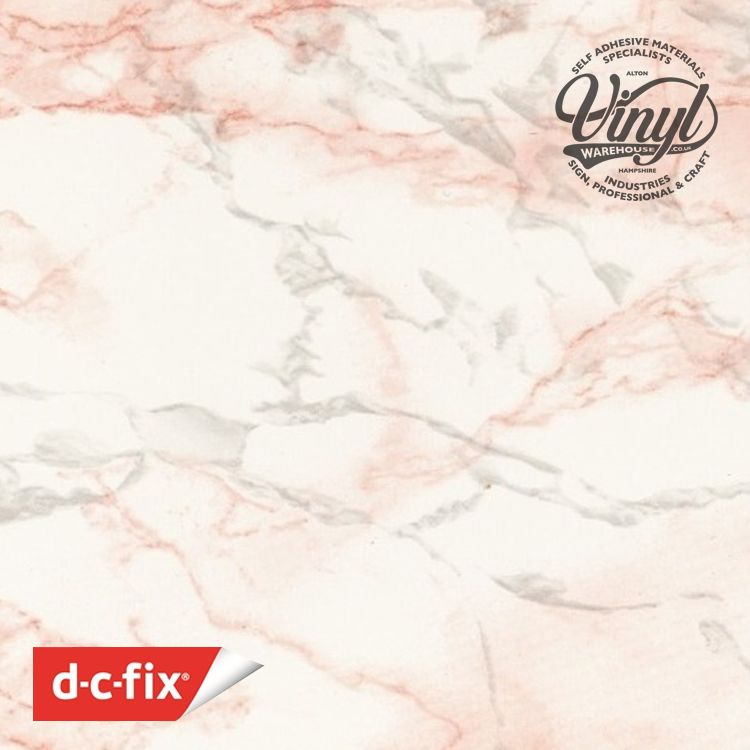 45cm Marino Pink Marble  Sticky Vinyl Fablon (280-3166) Cut to size from 1 to 15 metres