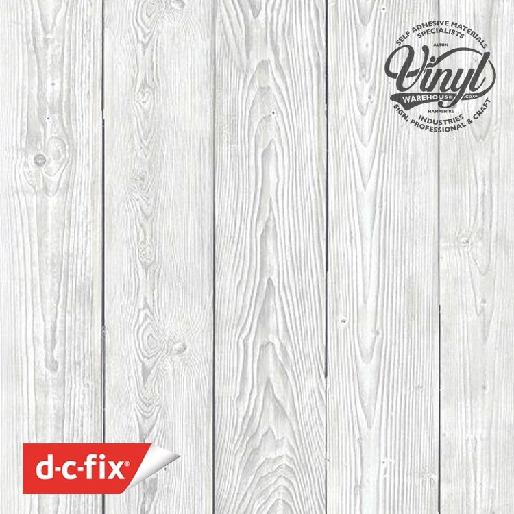 45cm Shabby White Wood Sticky Backed Vinyl (200-3248) from 1 to 15m