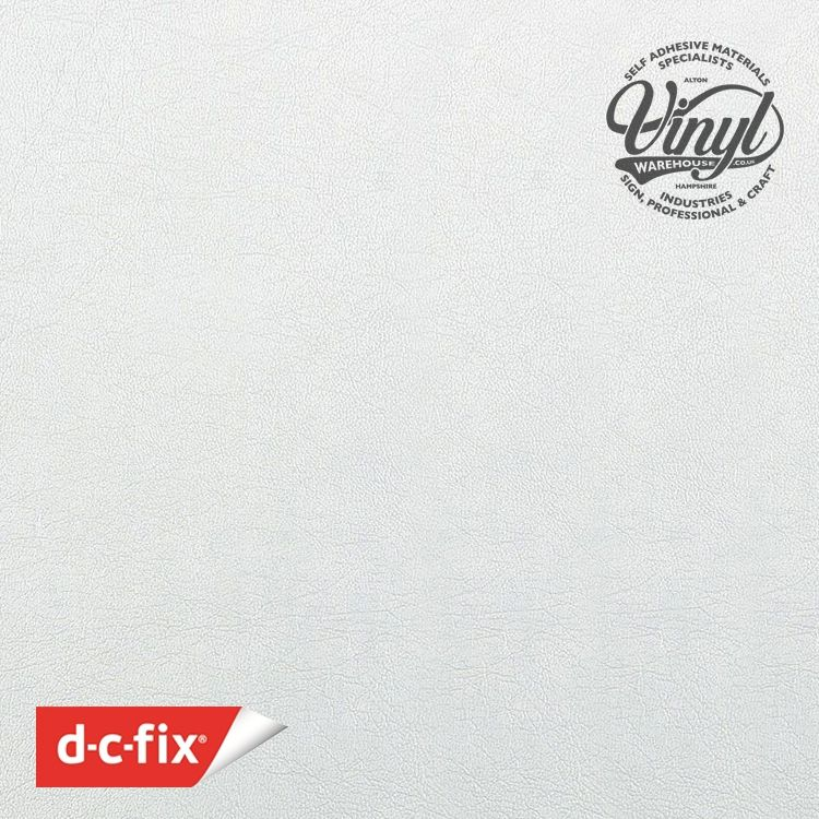 45cm  White Leather Embossed Sticky Back Vinyl (200-2840) Lengths from 1m to 15m