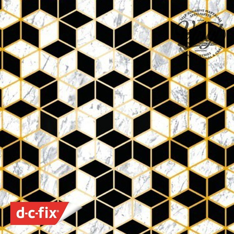 45cm x 1.5m Trendyline Coppas Geometric Sticky Back Vinyl (343-1023)