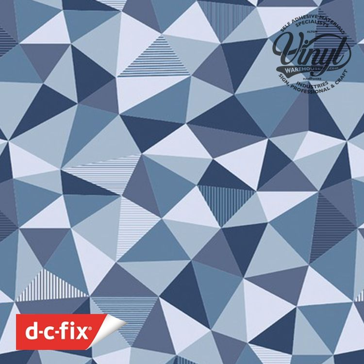 67.5cm x 1.5m Trendyline Triango Geometric Sticky Back Vinyl (343-8021)