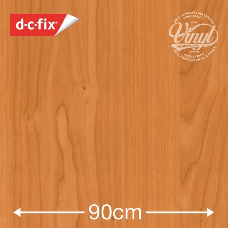 90cm Cinnamon Cherry Wood Sticky Back Vinyl (280-5551) Lengths from 1m to 15m
