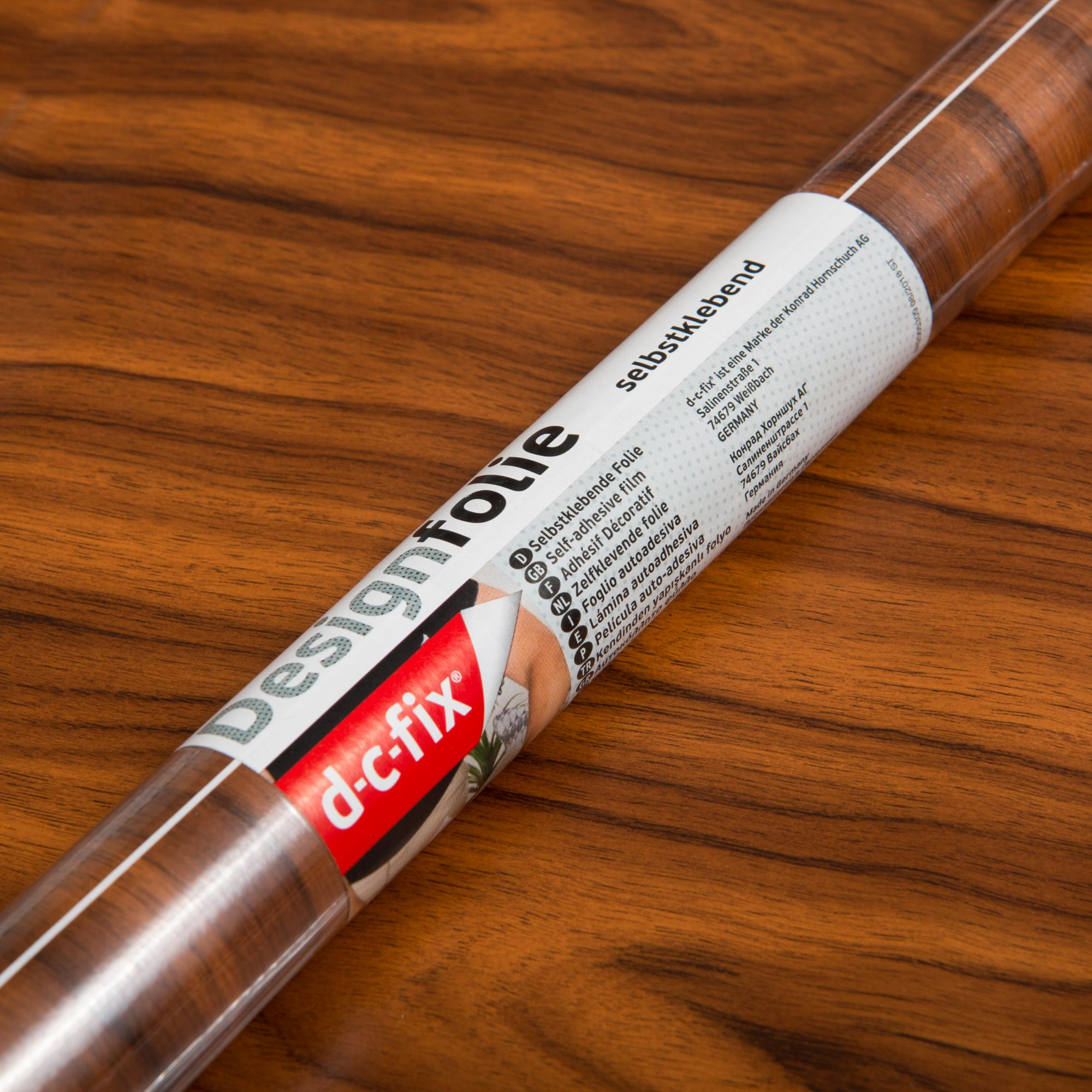 90cm Gold Walnut Wood Sticky Back Vinyl  (280-5093) Lengths from 1m to 15m