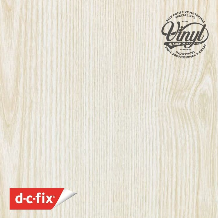 90cm White Ash Sticky Wood Sticky Back Vinyl (200-5314) Lengths from 1m to 15m