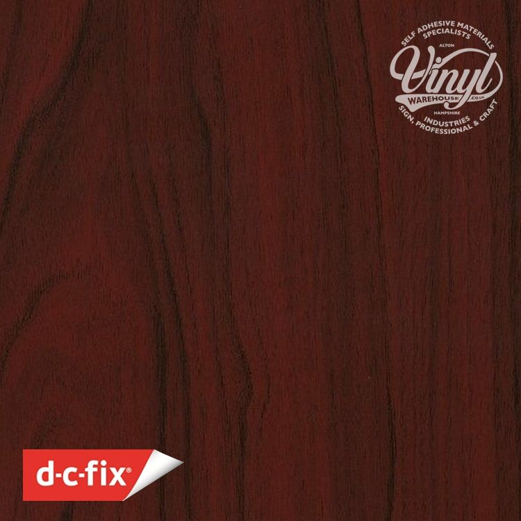 90cm Mahogany Wood Sticky Back Vinyl (200-5271) Lengths from 1m to 15m