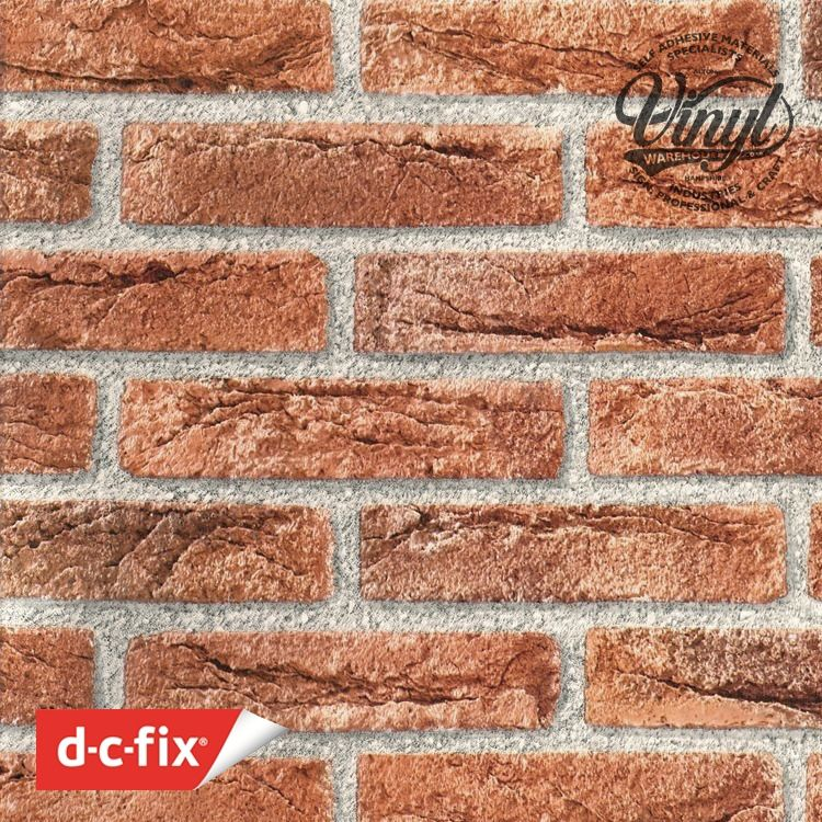 90cm Wide Roll of Red Brick Sticky Fablon (200-5590) Cut to size from 1 to 15 metres