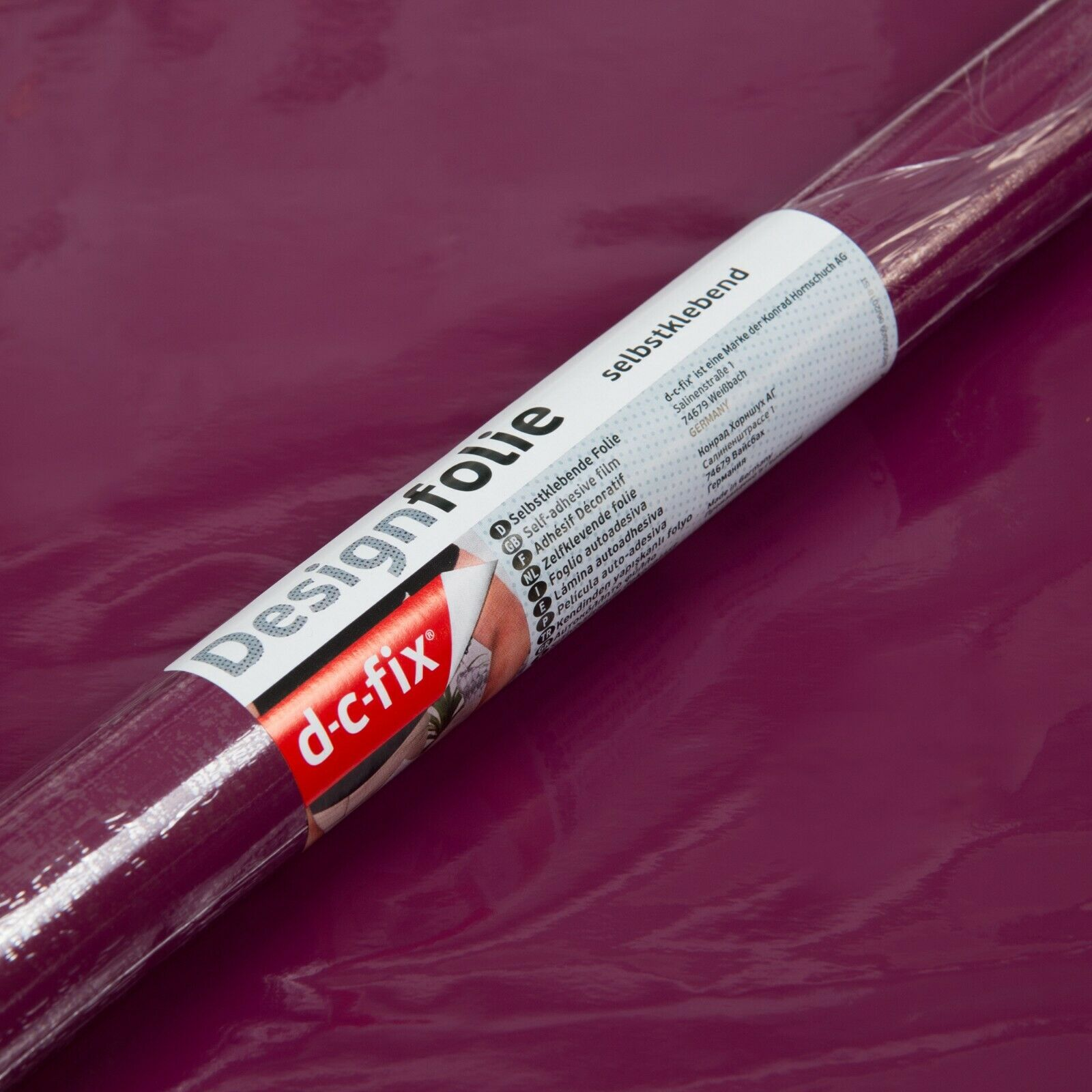 D-C-Fix 45cm Wide Gloss Berry RAL 4004 Sticky Vinyl Fablon (200-3243) from 1 to 15 metres