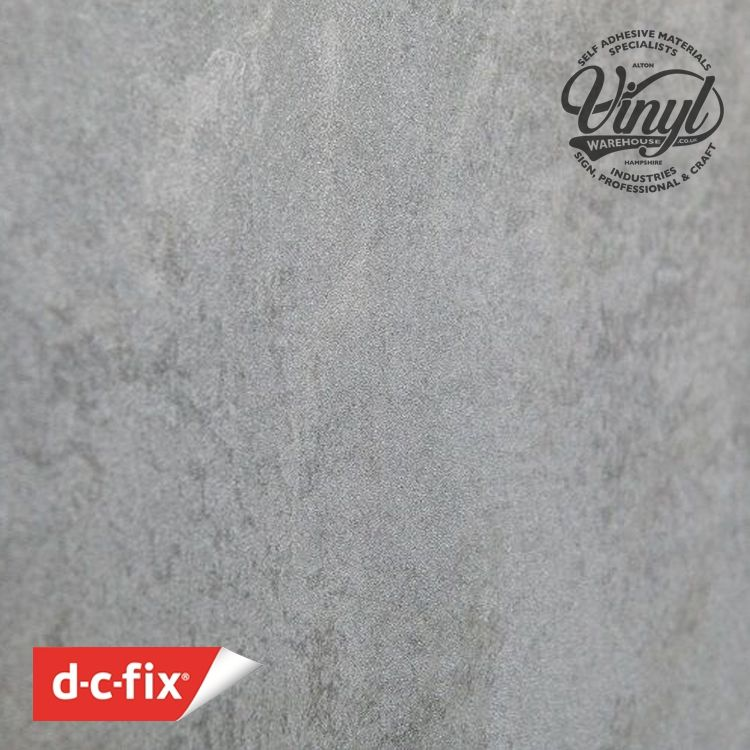 D-C-Fix Concrete Grey Stone Sticky Back Vinyl (346-0672) 45cm x 2m
