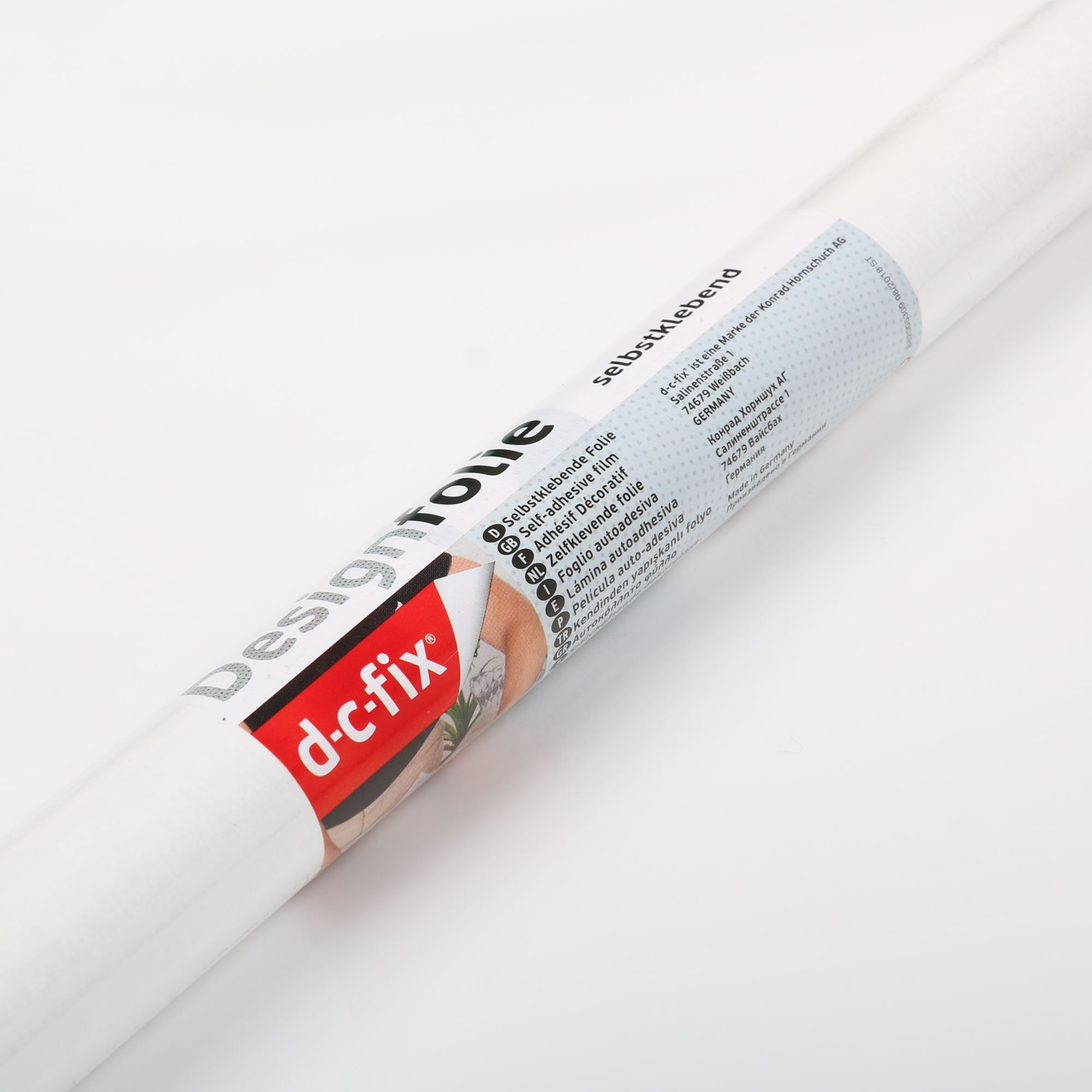 D-C-Fix Gloss White RAL 9016 Sticky Back Vinyl (346-5359) Extra Large 90cm x 2.1m