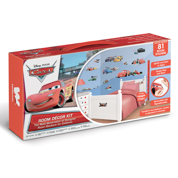 Disney Cars Room Decor Kit - 78 Piece