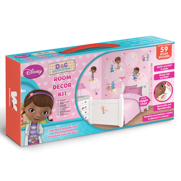 Disney Doc McStuffins Room Decor Kit - 59 Piece