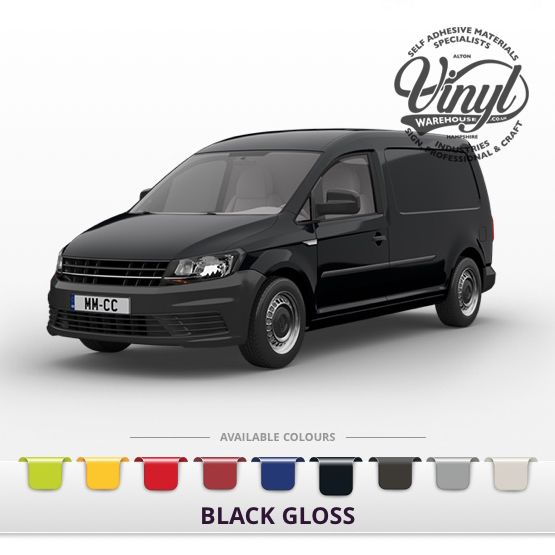 Gloss Black Vehicle Wrapping Film with Air Channel Adhesive