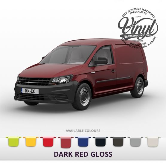 Gloss Dark Red Vehicle Wrapping Film with Air Channel Adhesive