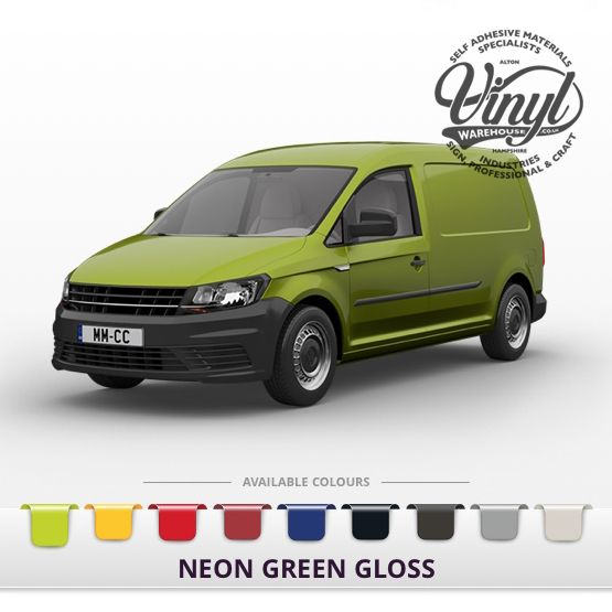 Gloss Neon Green Vehicle Wrapping Film with Air Channel Adhesive