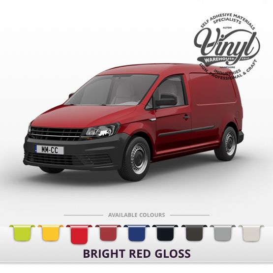 Gloss Red Vehicle Wrapping Film with Air Channel Adhesive