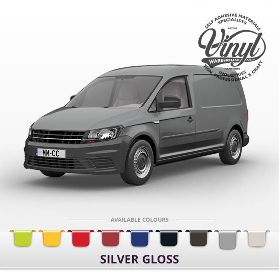 Gloss Silver Vehicle Wrapping Film with Air Channel Adhesive