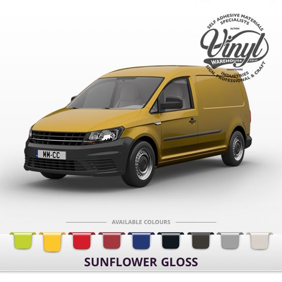 Gloss Sunflower Vehicle Wrapping Film with Air Channel Adhesive
