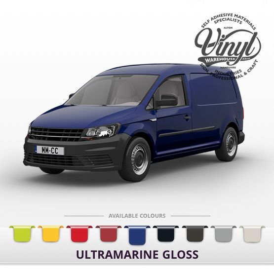 Gloss Ultra Blue Vehicle Wrapping Film with Air Channel Adhesive