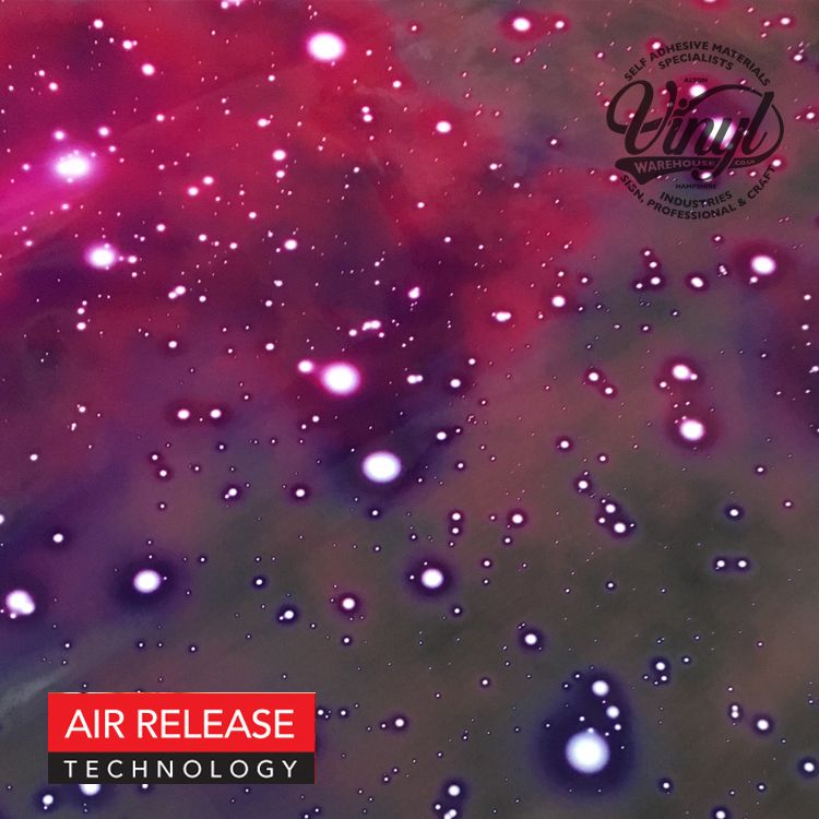 Glossy Cosmos Sky Self Adhesive Vinyl Wrap, (flexible with Air Release Adhesive)
