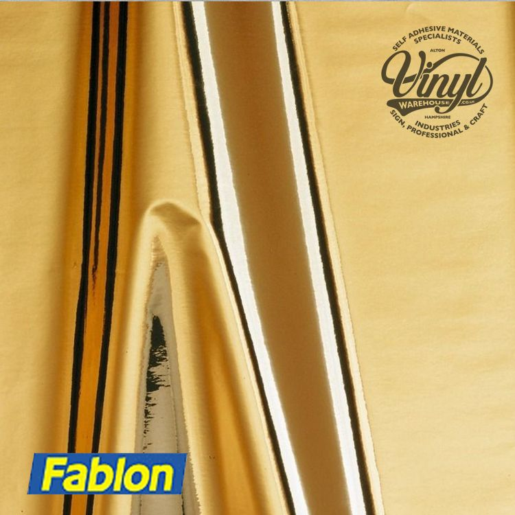 Gold Polished Effect Sticky Vinyl Fablon (FAB10295) 45cm x 1.5m