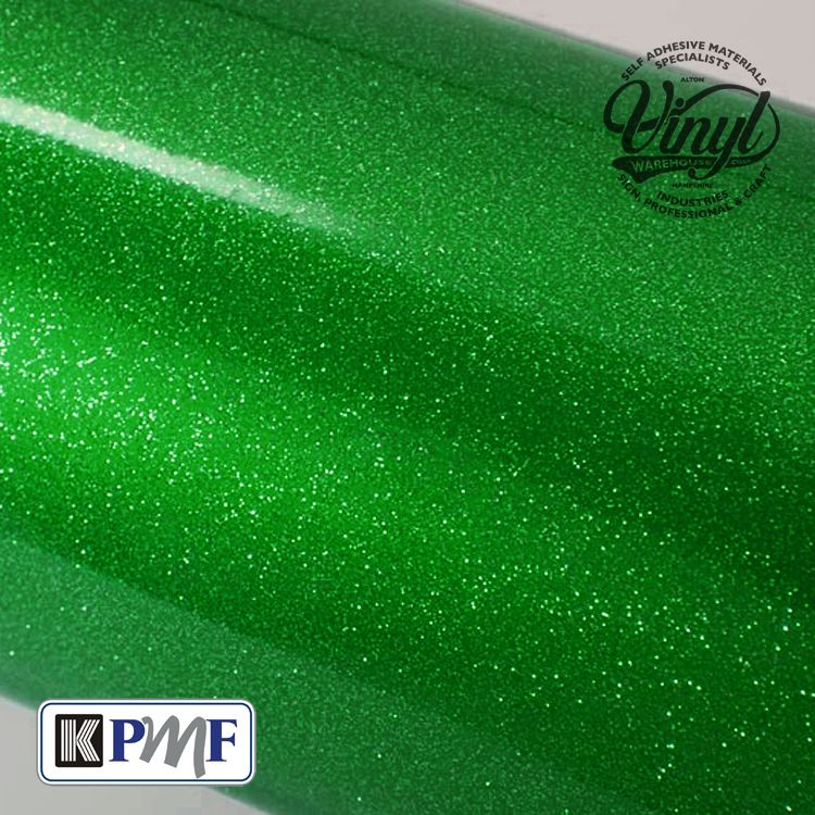 Green Heavy Glitter Metal Flake Vinyl Professional Cast