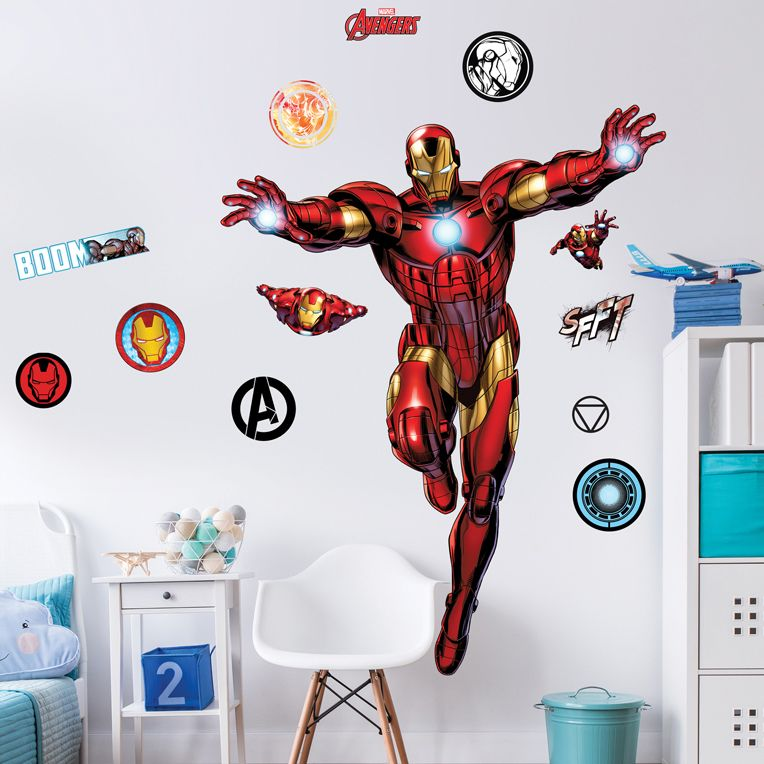 Iron Man Large Character Wall Sticker (wall safe adhesive)