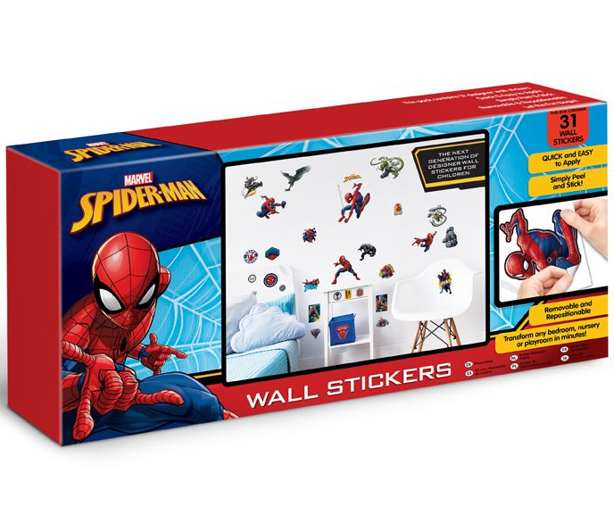 Marvel Spiderman Wall Sticker Kit - 31 Piece - 44746