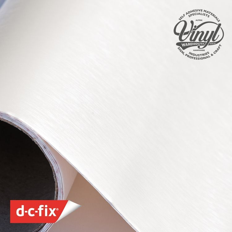 Metallic Brushed Pearl White Sticky Vinyl Fablon (343-8315) 67cm x 1.5m
