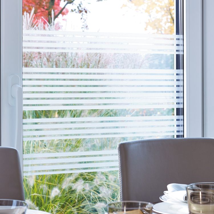 Modern Decorative Static Window Stripes - Clarity -321-9002-  200cm x 30cm