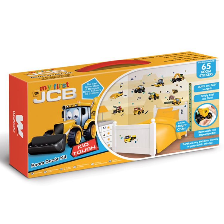 MY FIRST JCB Kids Wall Decor Sticker Kit - 65 Piece