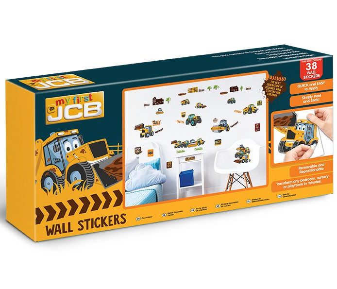 My First JCB Wall Sticker Kit - 38 Piece - 44722