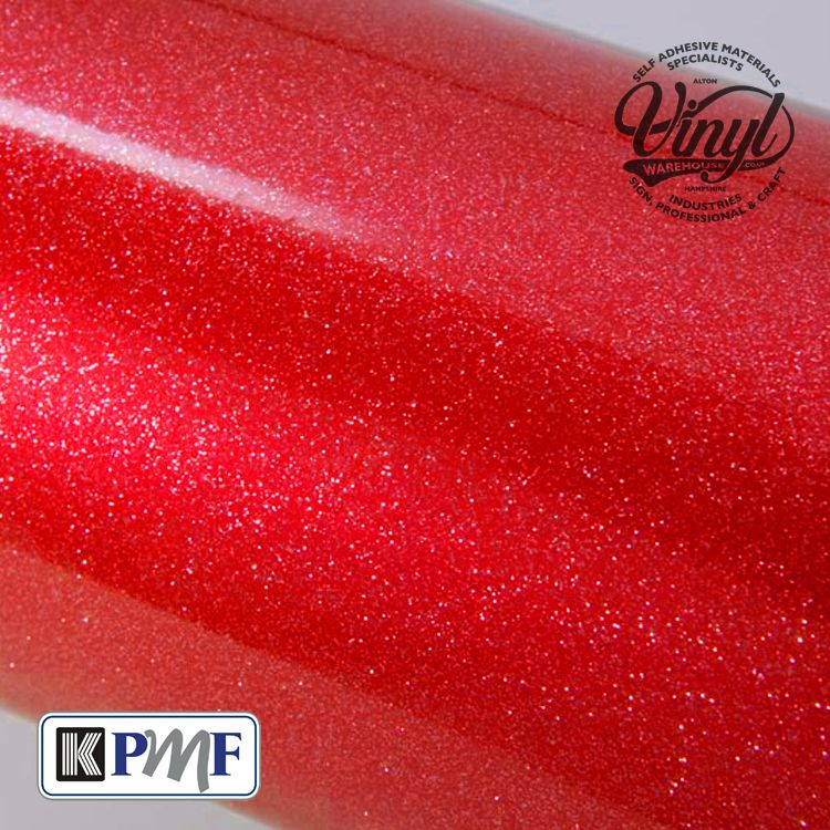 Red Heavy Glitter Metal Flake Vinyl Professional Cast