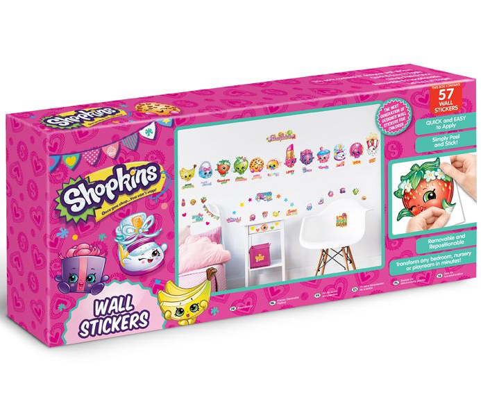 Shopkins Wall Sticker Kit - 57 Piece - 44807