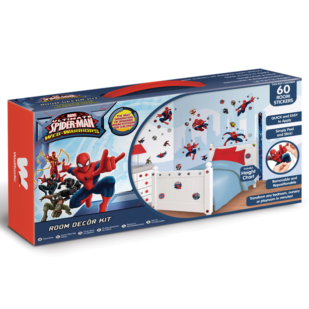 Ultimate Spiderman Walltastic Wall Decor Kit - 61 Piece - 43145