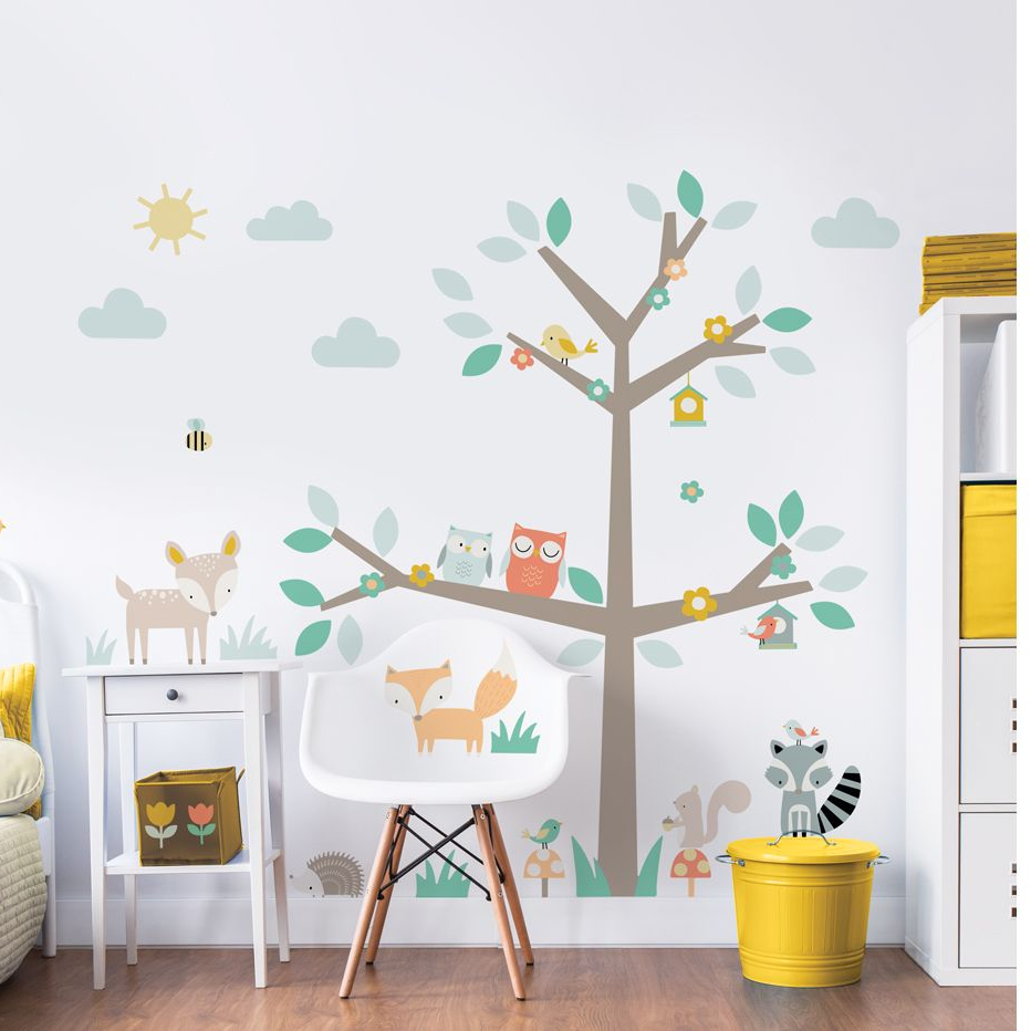Woodland Tree Amp Friends Large Character Wall Sticker Wall